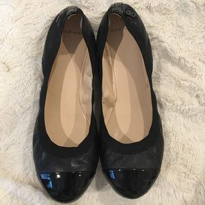 Cole Haan Black Leather Ballet Flats